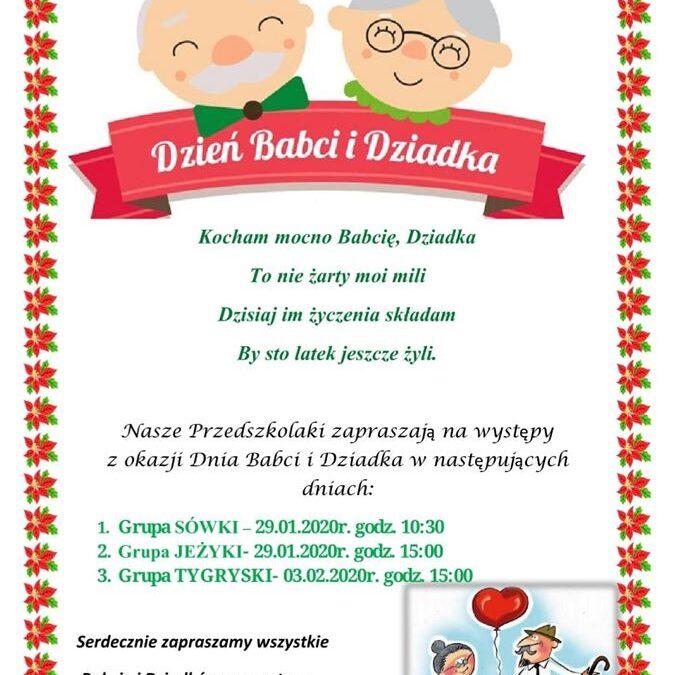 Zapraszamy serdecznie babcie i dziadków na występy :)